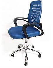 كرسي مكتب شبك طبي متحرك لون ازرق ذراع مزدوج مقاوم للكسر