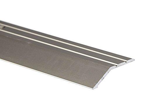2M Ramp Edge Carpet 45x16mm Aluminium Door Trim Wooden Laminate Floors at Different Levels TMW Profiles (Anodised Silver…