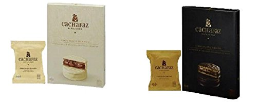 Amazon.com: Alfajores Cachafaz: 1 Caja de Chocolate blanco x 6 un. Y 1 caja de Chocolate negro x 6 un.
