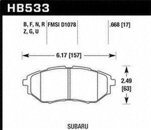 (Hawk Performance HB533F.668 HPS Performance Ceramic Brake)