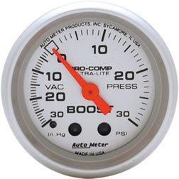 Autometer 4603 Ultra Lite Series Boost Gauges - Autometer Ultra Lite Boost