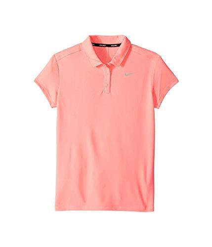 Nike Girl's Dry Victory Golf Polo (Sunset Pulse, Medium) - Girls Golf Polo