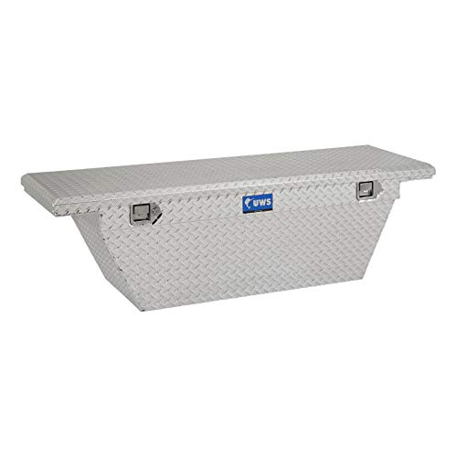 UWS EC10741 63-Inch Aluminum Deep Angled Truck Tool Box with Low Profile