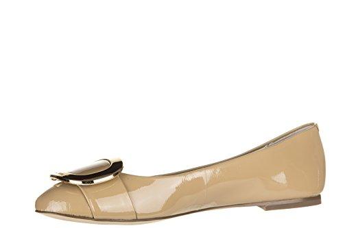 Michael Kors ballerines femme en cuir neuves pauline beige