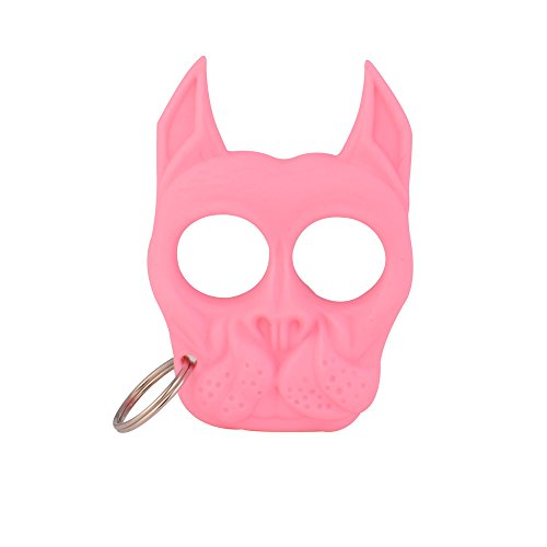 Aselling Portable Bull Dog Self Defense Keychain Cartoon Cute
