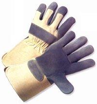 Heavy Duty Leather Glove w/ Gauntlet Cuff & Kevlar Stitching (Sold by Dozen) Large ()