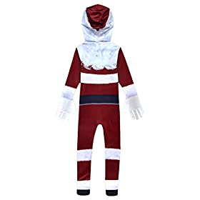 - 31RBALTijzL - MUCLOTH Kids 3D Printing Christmas Santa Claus Cosplay Costume Deluxe Santa Zentai Jumpsuit for Boys and Girls