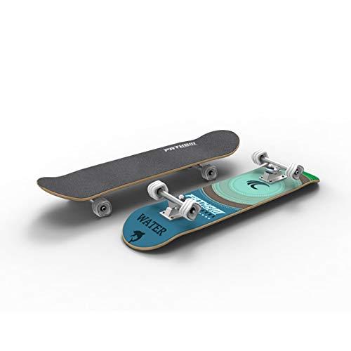 Skateboard Deck Width - Fathom by Shark Wheel Elements Water Street Deck Skateboard with Shark Wheels