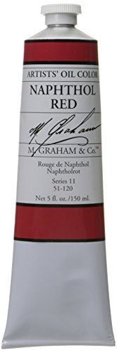 M. Graham Artist Oil Paint Naphthol Red 5oz Tube by M. Graham & Co.