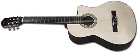 Memphis 951CN - Guitarra Clásica Cutaway, color Natural: Amazon ...