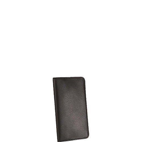 Scully Calfskin Leather Pocket Weekly Planner (Black)