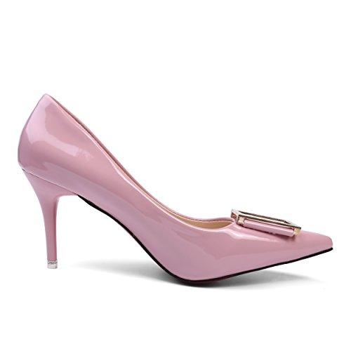 Aerusi Sem401039 Dames Slip Op De Manier Jurk Hoge Hak Pumps, Maat 8, Fuschia Roze Lavendel Paars