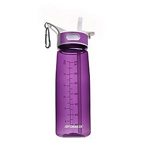JOYSHAKER Sports Water Bottle With Straw BPA Free Tritan Water Bottles Non-toxic 28OZ (Purple)