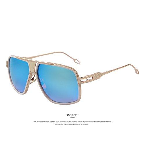 Vendimia sol estilo TIANLIANG04 UV400 los Blue de de la de C02 C05 más Gris grandes Gafas que de gafas gafas de el verano sol hombres Oculos Gafas nuevo de Sol q4wOrqvHx