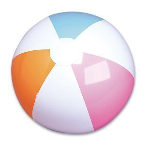 RIN 860114002587 2 Dozen (24) 12'' Traditional Classic 6 Panel Beachballs/Pool Party Favor Beach Ball Pack