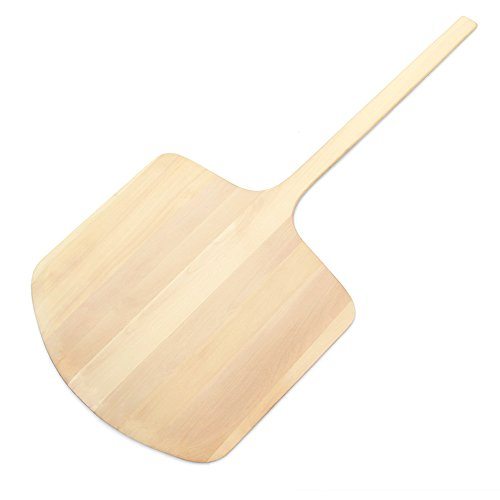 New Star Foodservice 50387 Wooden Pizza Peel, 20 x 20 inch Blade, 42 inch ()