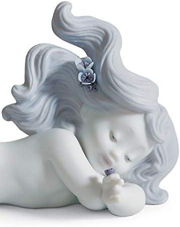 LLADR Day Dreaming at Sea Mermaid Figurine. Porcelain Mermaid Figure.