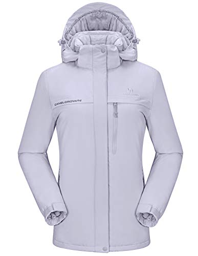 CAMEL CROWN Womens Ski Jacket Waterproof Snowboard Winter Snow Warm