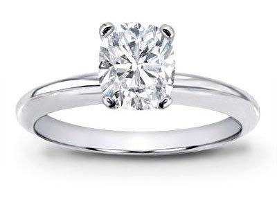 - 1 Carat GIA Certified Solitaire Platinum Cushion Cut Diamond Engagement Ring (I Color VVS1-VVS2 Clarity Center Stones Center Stones)