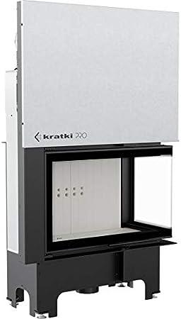 Kratki VN 810/410 - Chimenea con ventana lateral derecha de 14 kW y puerta corredera: Amazon.es: Bricolaje y herramientas