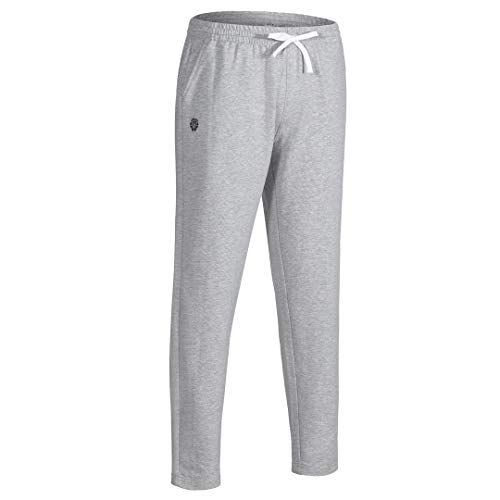 PIQIDIG Boys Tapered Athletic Running Pants Youth Training Sweatpants with Pockets Grey M