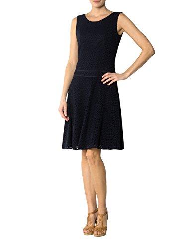Baum Wolle Kleid Dress Gemustert Farbe Damen Blau Größe Laurèl 36 f6wvq