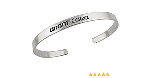 Anam Cara Cuff Bracelets Gaelic Soul Friend Matching Friend Bracelets Celtic Matching Set Friendship Aluminum Metal Adjustable