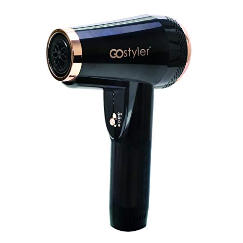 Go Styler Cordless Hair Styler & Dryer (Blow Dryer Battery Operated)