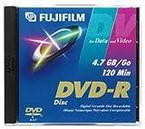 Fujifilm Media 25302947 DVD-R 4.7 GB 120 Minutes 16X Storage Media - 5 Pack