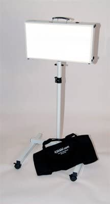 Alaska Northern Lights Northstar – 10,000 LUX SAD Light Therapy Box Floor Stand Combo