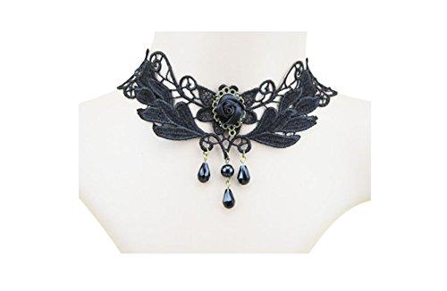 Primi 1pièce élégant style gothique Lady fête Paon Collier Col en dentelle