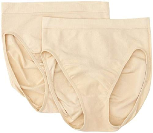(Maidenform Flexees Women's Shapewear Hi-Cut Brief 2-Pack, Beige, X-Large/16)