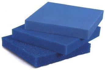 Filterschaum Filtermatte - Blau 50 x 50 x 3 cm 'fein' (ppi 30)