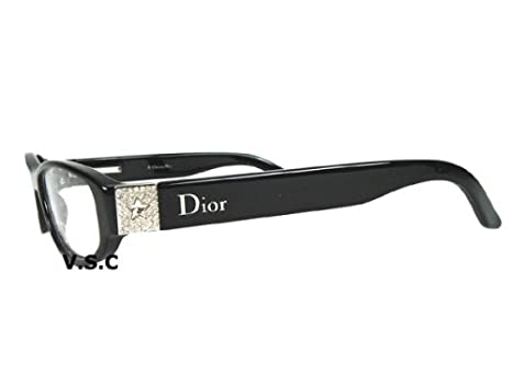 b01b9779f9de Image Unavailable. Image not available for. Color  Christian Dior CD 3102 Eyeglasses  Eye Glasses Rhinestones Swarovski Crystals Cat Eye Frame ...