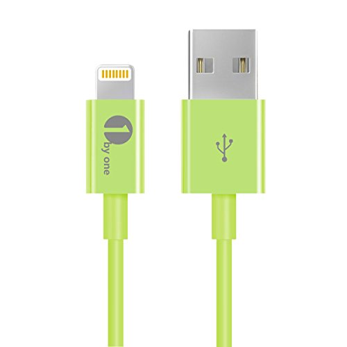 [Apple MFI Certified] 1byone Lightning to USB Cable 3.3 Feet (1 Meter) for iPhone 7 7 Plus 6s 6 Plus 5s 5c 5, iPad mini, iPad Air, iPad Pro, iPod touch 6th Gen / nano 7th Gen, Green