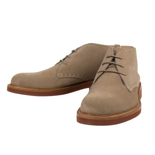 Ermenegildo Zegna Men's Tan Suede Leather Chukka Boots Shoes US 9 EU 10 Brown