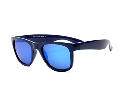 Real Shades Wave Runner Sunglasses for Adults - 100% UVA UVB Protection, Polycarbonate Revo Lenses, Unbreakable, Flex Fit, Iconic 80s Style (Blue/Blue Revo - Waverunner Sunglasses