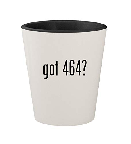 got 464? - Ceramic White Outer & Black Inner 1.5oz Shot Glass