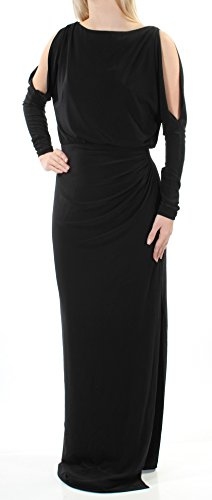 Lauren Long Sleeve Jersey - Lauren Ralph Lauren Womens Matte Jersey Long Sleeves Evening Dress Black 4