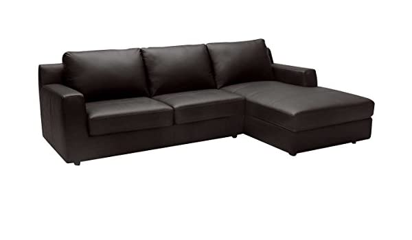 Amazon.com: J&M Furniture Taylor Leather Right Facing Sectional Sofa ...