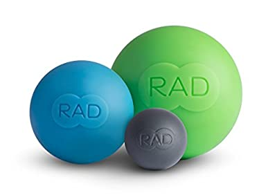 RAD Rounds (Medical Grade Silicone Self Massage Mobility and Recovery Myofascial Release Balls in Multiple Densities, Set of 3)