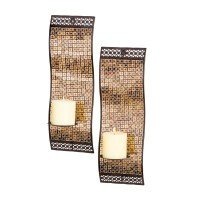 (San Miguel Kingsway Candle Holder Sconce Wall Lighting - Set of Two)
