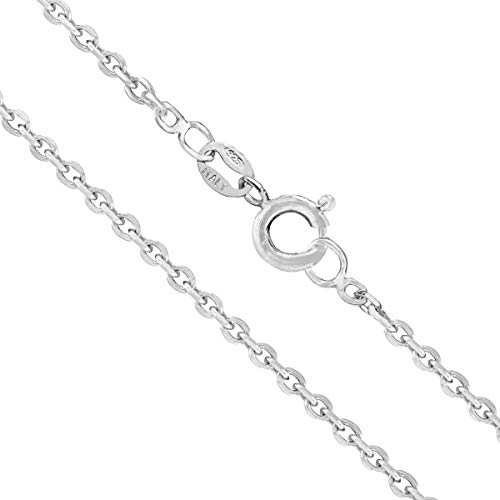 Honolulu Jewelry Company Sterling Silver 2mm Cable Chain (16 Inches)