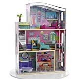 : DOLLHOUSE GLITTER SUITE HUGE + 11 PIECES WOOD FURNITURE