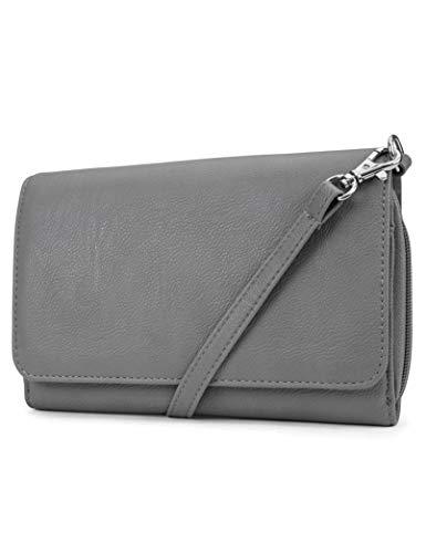 Mundi RFID Crossbody Bag For Women Anti Theft Travel Purse Handbag Wallet Vegan Leather (Botanical Stamps) -