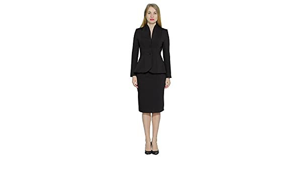 9c29d040b marycrafts Women's Formal Office Business Work Jacket Skirt Suit Set ...