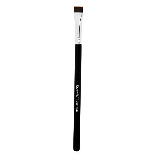 Eyeliner Eyebrow Brush Thin Fine - pro Flat Definer Eye Liner Makeup Brush with Small Synthetic Bristle for Precise Lash Liner with Gel, Liquid or Cake Powder Cosmetic Application, Brochas Para Ojos - Mac Eyebrows