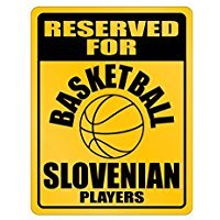 Reserved for Slovenia Players - Countries - Parking Sign [ Decorative Novelty Sign Wall Plaque ] ()