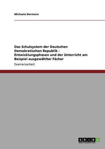 Download Das Schulsystem Der Deutschen Demokratischen