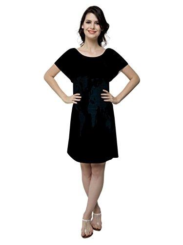Snoogg -  Camicia da notte  - Collo a U  - Maniche corte  - Donna